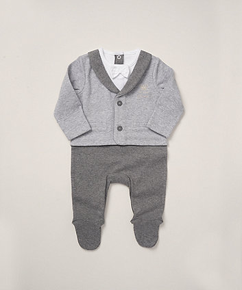 Mothercare Mock Jacket And Bow Tie All In One