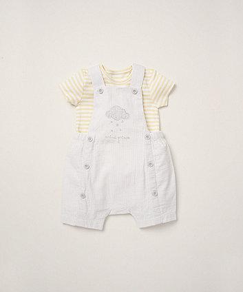 Mothercare Mini Prince Bibshorts And Bodysuit Set