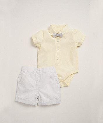 Mothercare Yellow Shirt And Shorts Set