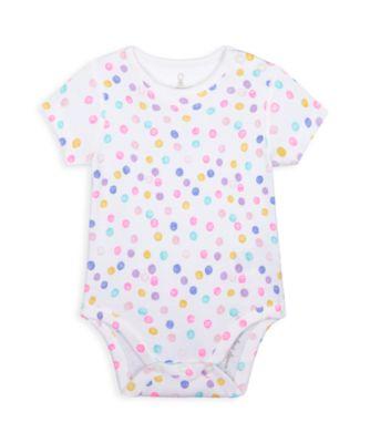 Mothercare Wardrobe Essentials NB We White Spot Short Sleeve Bodysuit