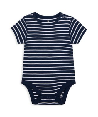 Mothercare Wardrobe Essentials NB We Navy Stripe Bodysuit