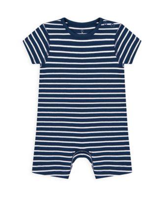 Mothercare Boys Wardrobe Essentials Navy Stripe Romper