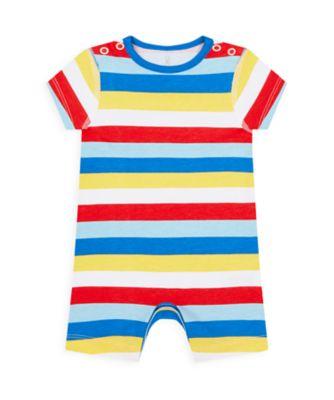 Mothercare Boys Wardrobe Essentials Essentials Multi Stripe Romper