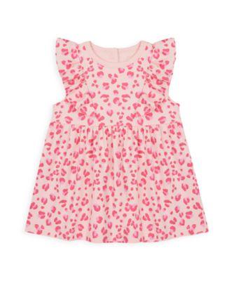 Mothercare Girls Wardrobe Essentials Pink Leopard Dress