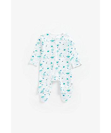 Mothercare My World Zipped Sleepsuit