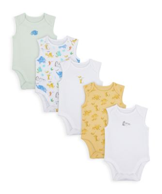 Mothercare Unisex Mummy & Daddy Sleeveless Bodysuits - 5 Pack
