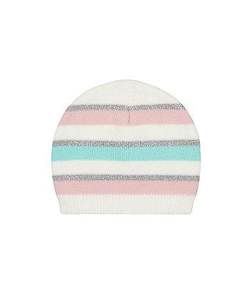Mint Stripe Knitted Magic Beanie Hat [SS21]