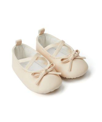 Mothercare Baby Girl Nude Ballerina Pram Shoe