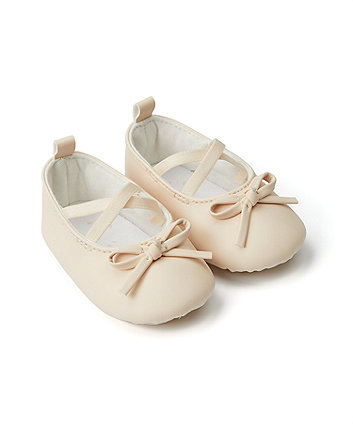Mothercare Nude Ballerina Shoes