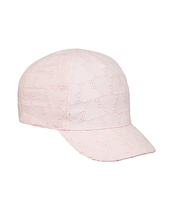 Mothercare Pink Broderie Cap