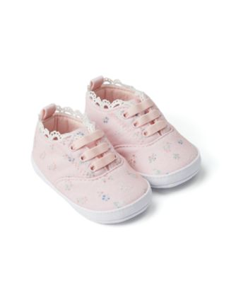 Mothercare Baby Girl Pink Floral Pram Trainer