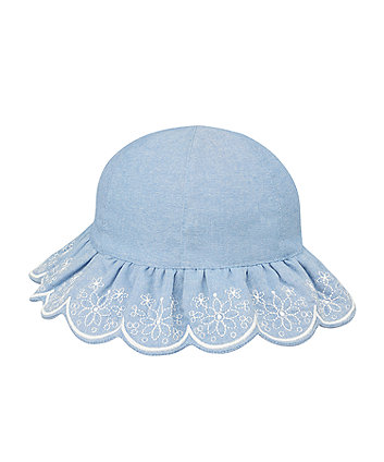 Mothercare Denim Embroidered Sunhat
