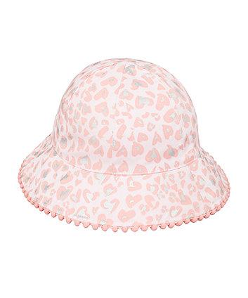 Mothercare Pink Animal-Print Sunhat