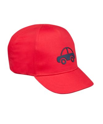 Mothercare Boys Red Car Cap