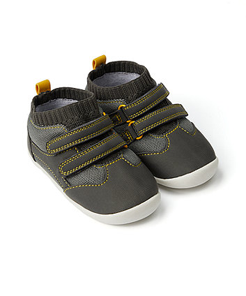 Mothercare Grey Crawler Trainers