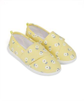Mothercare Girls Epp Daisy Allover Print Single Velcro Canvas Shoe