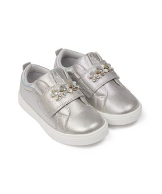 Mothercare Girls Silver Unicorn 3D Trainer