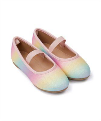 Mothercare Girls Rainbow Glitter Ballerina Shoe