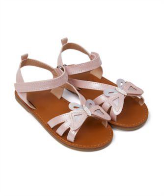 Mothercare Girls Pink Shimmer Butterfly Sandal