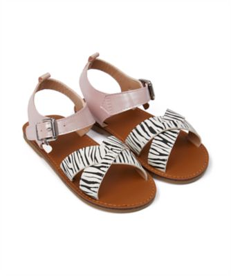 Mothercare Girls Zebra Sandal
