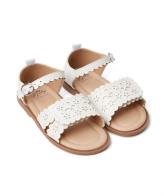Mothercare Girls White Cut Out Sandal