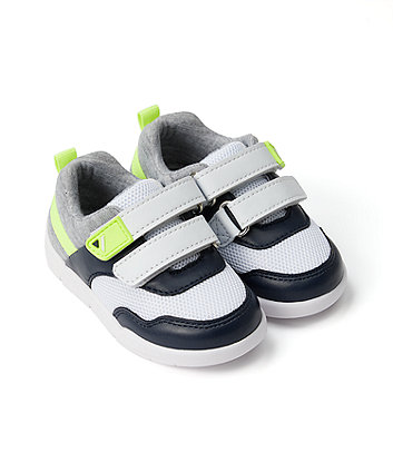 Mothercare First Walker Navy And Lime Trainers