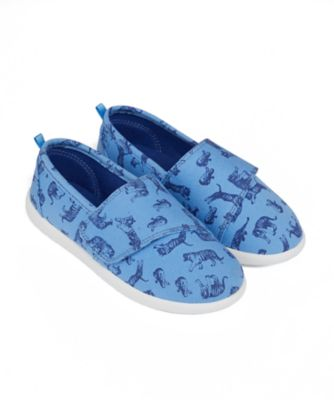 Mothercare Boys Epp Safari Print Single Velcro Canvas Shoe