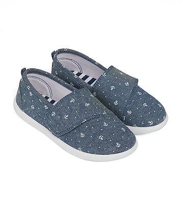 Mothercare Anchor-Print Canvas Shoes