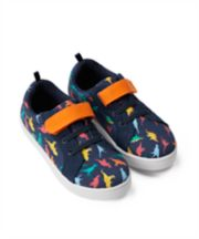 Mothercare Dinosaur Canvas Trainers
