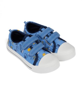 Mothercare Boys Truck Print Double Velcro Canvas Shoe