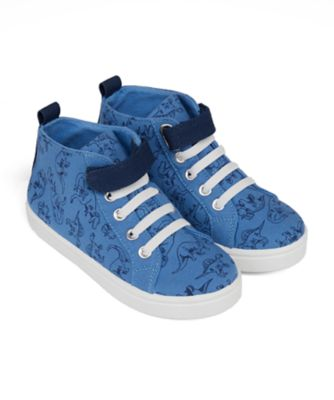 Mothercare Boys Epp Dinosaur Print High Top Canvas Shoe