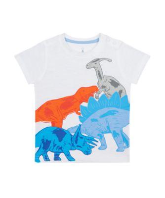 Mothercare Denim Dino Multi Dinosaur Epp Short Sleeve T-Shirt