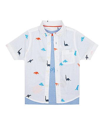 Mothercare Dino Shirt And T-Shirt Set