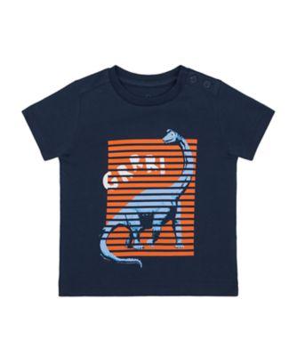 Mothercare Denim Dino Dino Placement Uber Short Sleeve T-Shirt