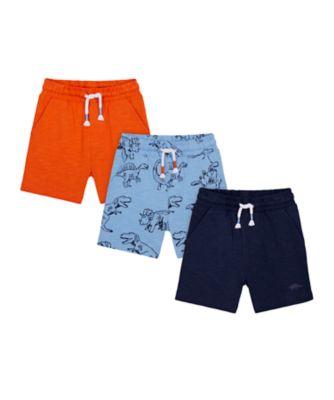 Mothercare Denim Dino Shorts - 3 Pack