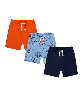 Mothercare Dino Shorts - 3 Pack