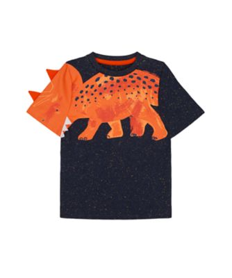 Mothercare Denim Dino Navy Nep Novelty Dino Short Sleeve T-Shirt