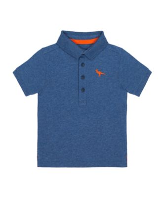 Mothercare Denim Dino Blue Polo T-Shirt