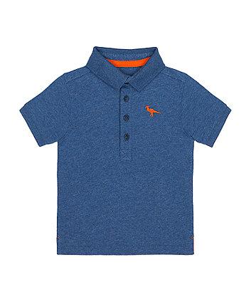 Mothercare Blue Dino Polo Shirt