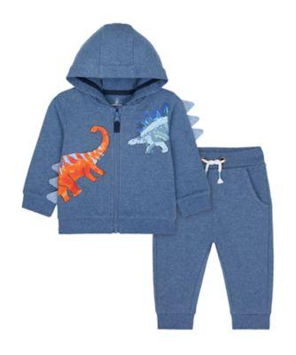 Mothercare Denim Dino Novelty Dino Zip Thru Hoody Jog Set