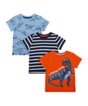 Mothercare Dino T-Shirts - 3 Pack