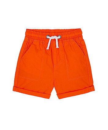 Mothercare Orange Poplin Shorts