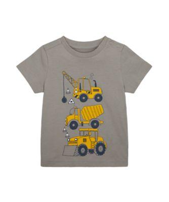 Mothercare Build It Three Digger Uber Short Sleeve T-Shirt