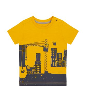 Mothercare Build It Mustard Site Epp Short Sleeve T-Shirt