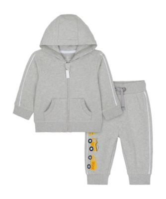 Mothercare Build It Grey Trucks Zip Thru Hoody Jog Set