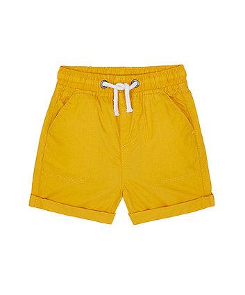 Mothercare Mustard Poplin Shorts