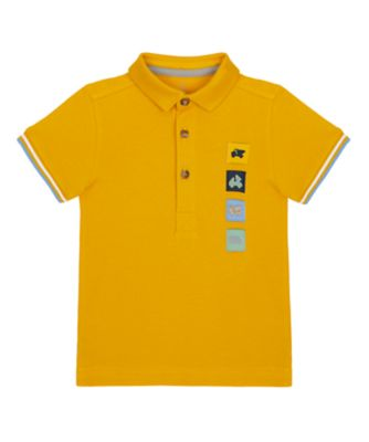 Mothercare Build It Mustard Badge Polo T-Shirt