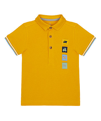 Mothercare Mustard Embroidered Polo Shirt
