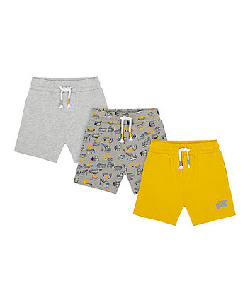 Mothercare Construction Shorts - 3 Pack