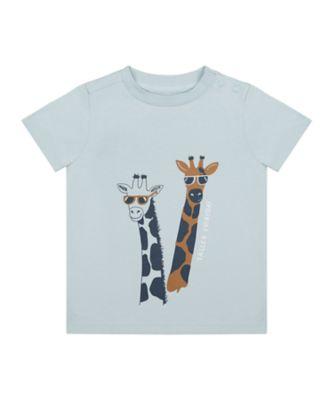 Mothercare Travel Blog Blue Giraffe Uber Short Sleeve T-Shirt
